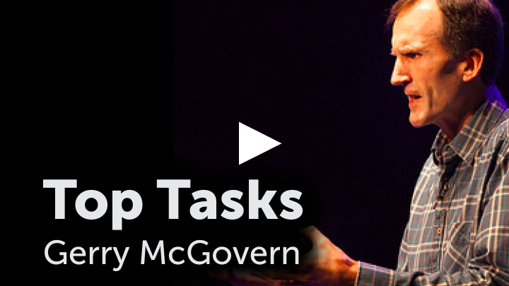 Top Tasks - Gerry McGovern